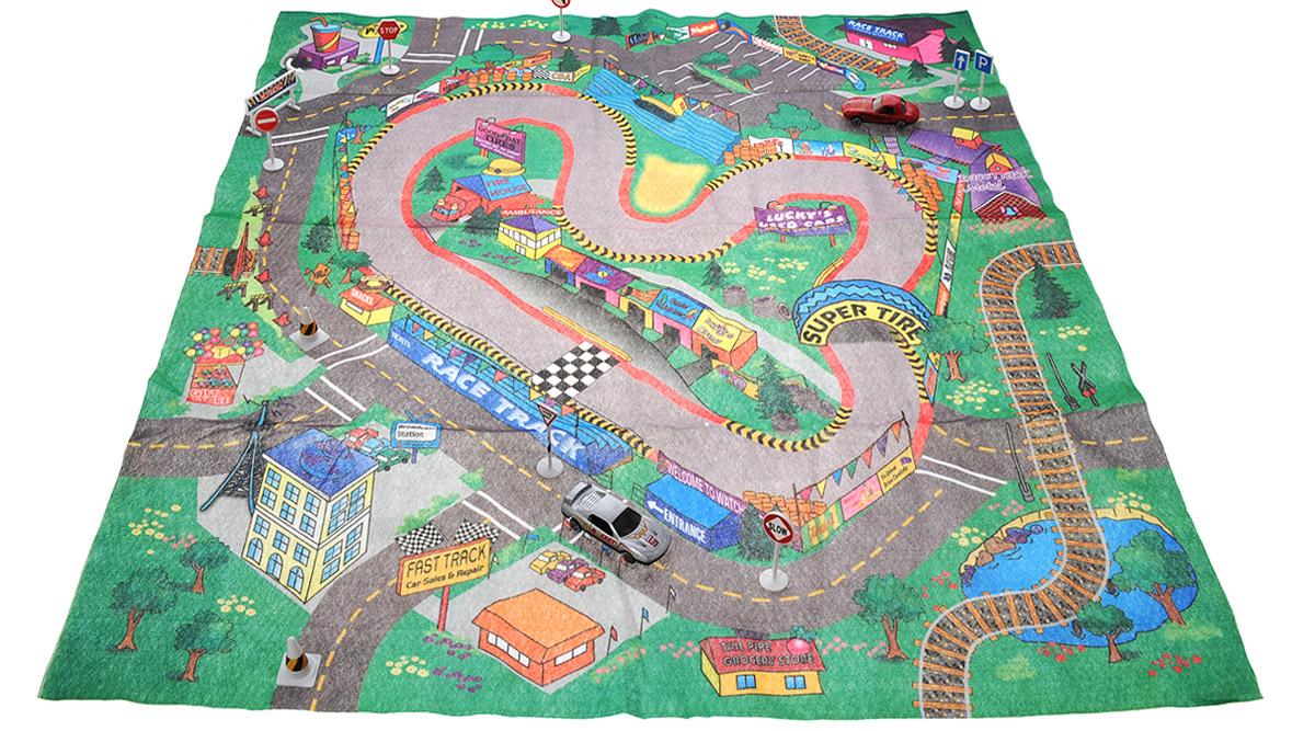 Big Motors Игровой набор Гоночный трек цвет машин серый красный