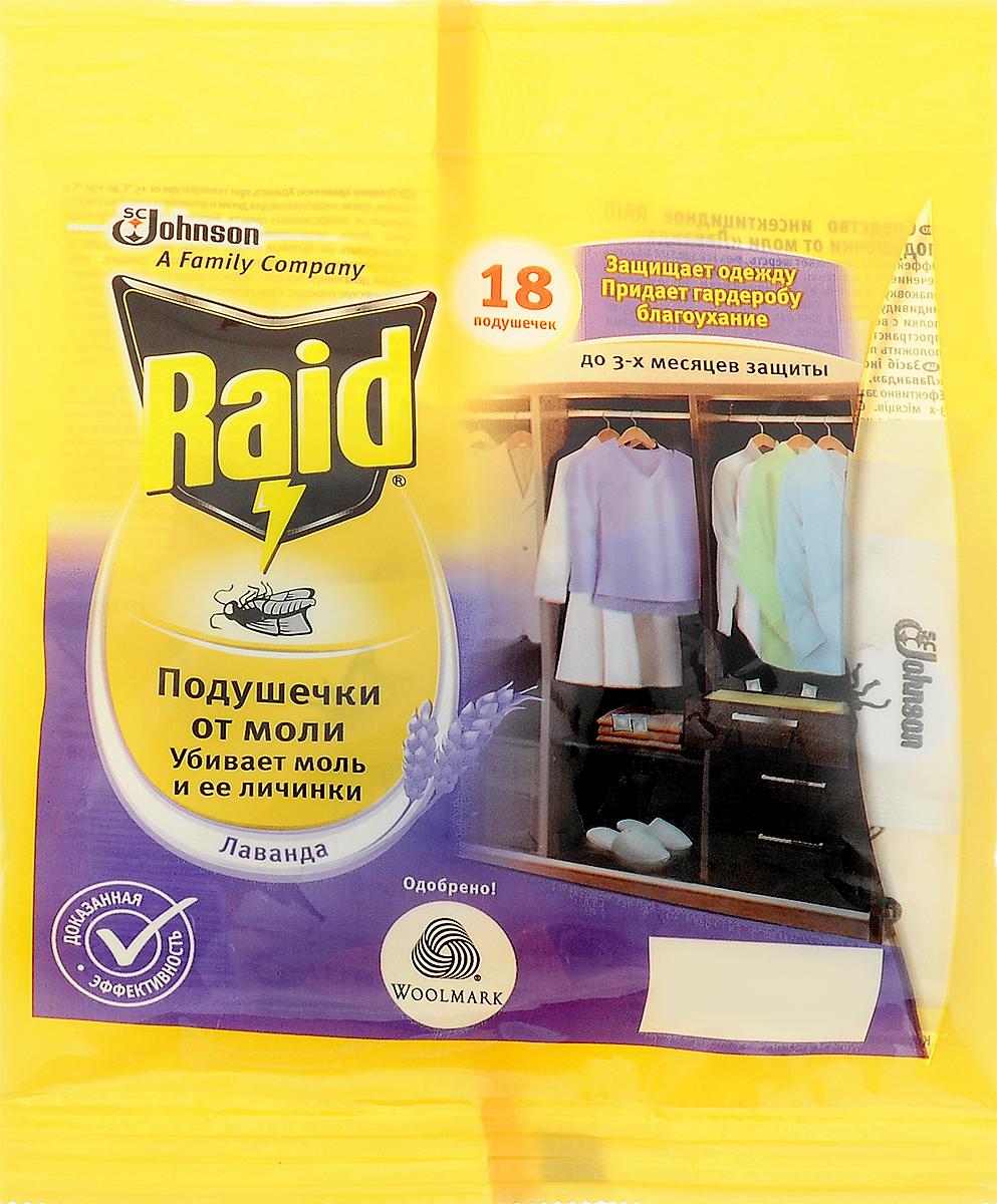 Подушечка от моли Raid, лаванда, 18 штBH-SI0439-WWПодушка от моли Raid бережно защищает вашу одежду из шерсти и меха от моли. Действующее вещество находится внутри пластикового корпуса, поэтому контакт с одеждой полностью исключается. Подушка не оставляет следов и может применяться для защиты самых деликатных тканей, таких как кашемир. Эффективно защищает от моли в течение 3 месяцев.Состав: эмпентрин (0,186%), микрокристаллическая целлюлоза, карбонат кальция, вода, отдушка, денатониум бензонат. Комплектация: 18 шт. Вес одного саше: 1,5 г.Товар сертифицирован.