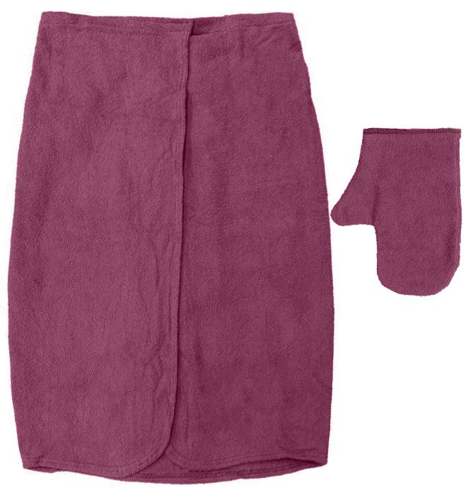 Махровый комплект для мужчин Банные штучки, цвет: бордовый, 2 предмета391602Махровый комплект для мужчин Банные штучки состоит из специальной накидки и рукавицы. Благодаря резинке накидка имеет универсальный размер, застегивается на пуговицы. Ее также можно использовать в качестве подстилки на лавку или как полотенце. Махровая ткань быстро впитывает влагу, обеспечивая комфорт во время использования. Специальная рукавица защитит ваши руки от ожогов во время нахождения в парилке, может использоваться как мочалка. Комплект идеален для бани, сауны, spa, хамама. Размер накидки: 140 см х 60 см. Размер рукавицы: 28 см х 21 см.