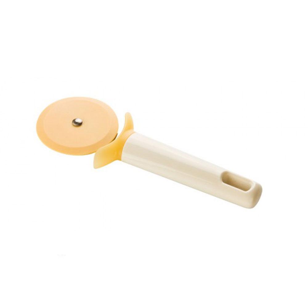 Нож для пиццы Tescoma Delicia, длина 18,5 см630022Нож Tescoma Delicia изготовлен из нейлона - материала, к которому не прилипает пища. Он предназначен для нарезания пиццы. Удобная пластиковая ручка не позволит выскользнуть изделию из вашей руки, сделает приятным процесс приготовления любого блюда. На ручке имеется небольшое отверстие, за которое нож можно подвесить в любом удобном для вас месте.Можно мыть в посудомоечной машине.Диаметр лезвия: 6,5 см.Общая длина ножа: 18,5 см.
