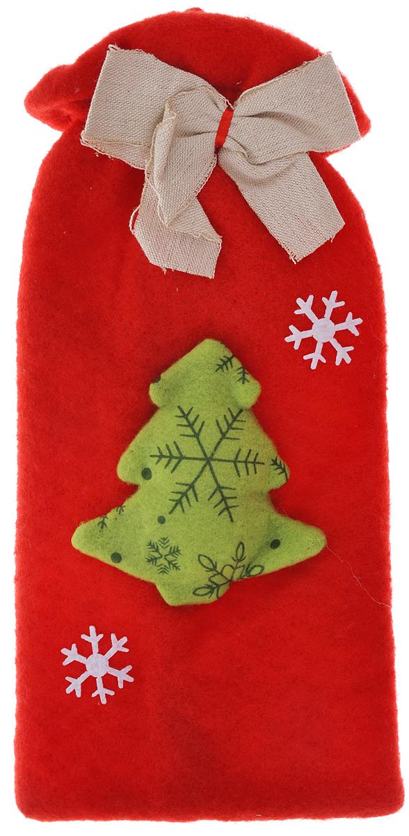 Новогодний мешочек для подарка Феникс-презент Елочка с бантиком, цвет: красный, зеленый, белый, 15,5 см х 29,5 см1125295Новогодний мешочек для подарка Феникс-презент Елочка с бантиком, выполненный из синтетического фетра, оформлен изображением елочки и бантиком. По верхнему краю расположена резинка.Подарок, преподнесенный в оригинальной упаковке, всегда будет самым эффектным и запоминающимся. Окружите близких людей вниманием и заботой, вручив презент в нарядном, праздничном оформлении.