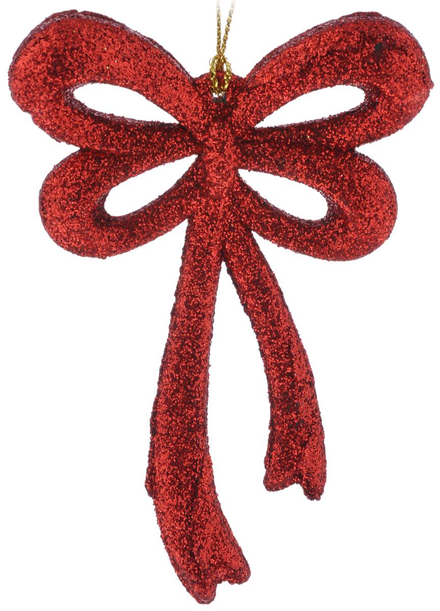 Новогоднее подвесное украшение Феникс-Презент Бантик, цвет: красный, 7,5 х 10,5 см97775318Новогоднее подвесное украшение Феникс-Презент Бантик отлично подойдет для декора праздничной ели. Изделие выполнено из пластика и покрыто блестками. Украшение оснащено петелькой для подвешивания. Елочная игрушка - символ Нового года. Она несет в себе волшебство и красоту праздника. Создайте в своем доме атмосферу веселья и радости, украшая новогоднюю елку нарядными игрушками, которые будут из года в год накапливать теплоту воспоминаний.