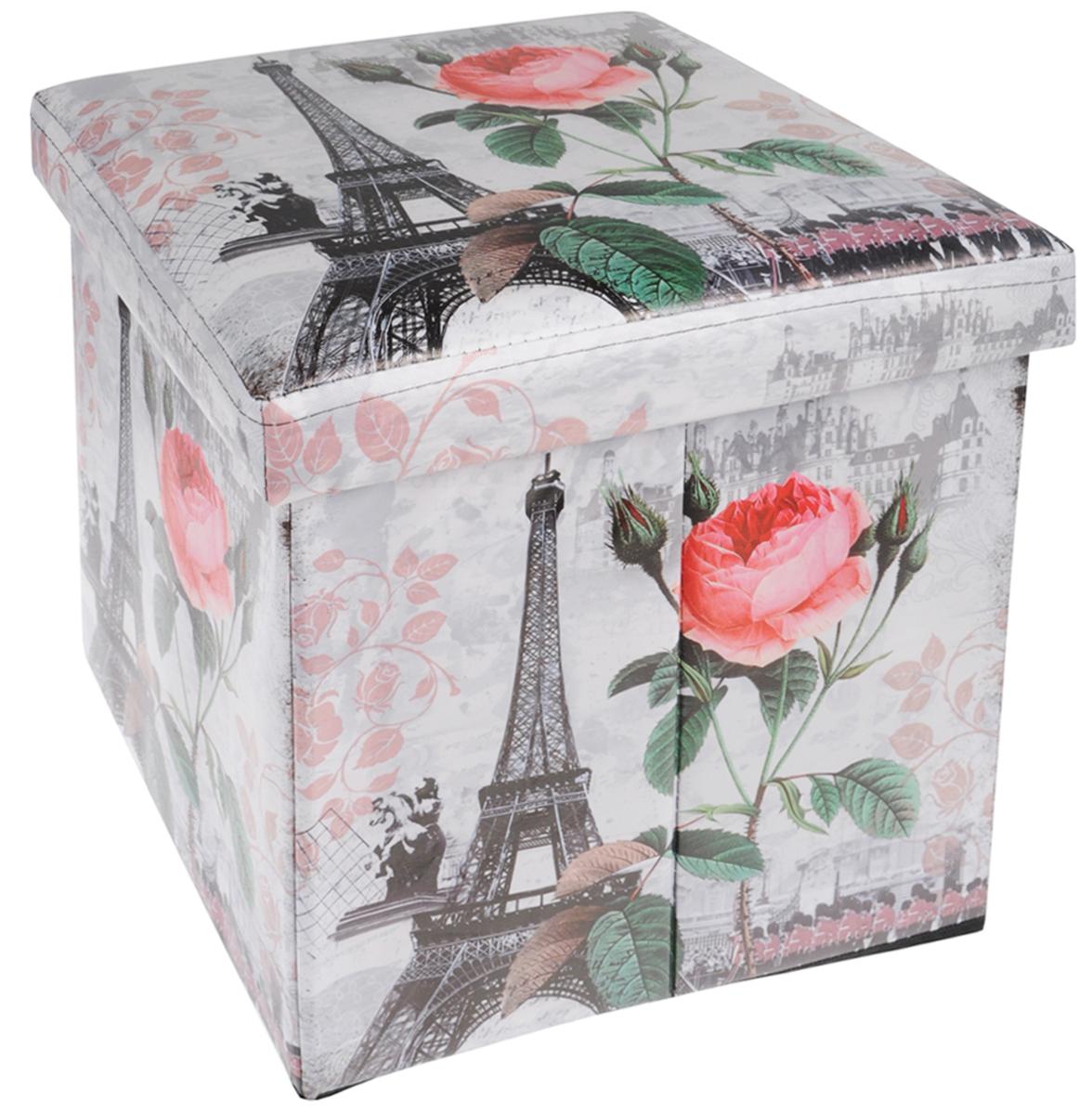 Кофр для хранения El Casa Париж - Метро, 41 х 36 х 26 смBQ2576СНЛЕГОКофр для хранения El Casa Париж - Метро - компактное и красивое решение для хранения вещей дома или на даче. Кофр имеет жесткий каркас из МДФ, выполнен из экокожи с изображением Эйфелевой башни. Снабжен крышкой, которая закрывается на липучку. Две ручки по бокам - для комфортной переноски. В таком кофре можно хранить всевозможные предметы: книги, игрушки, рукоделие. Яркий запоминающий дизайн кофра привнесет в ваш интерьер неповторимый шарм.