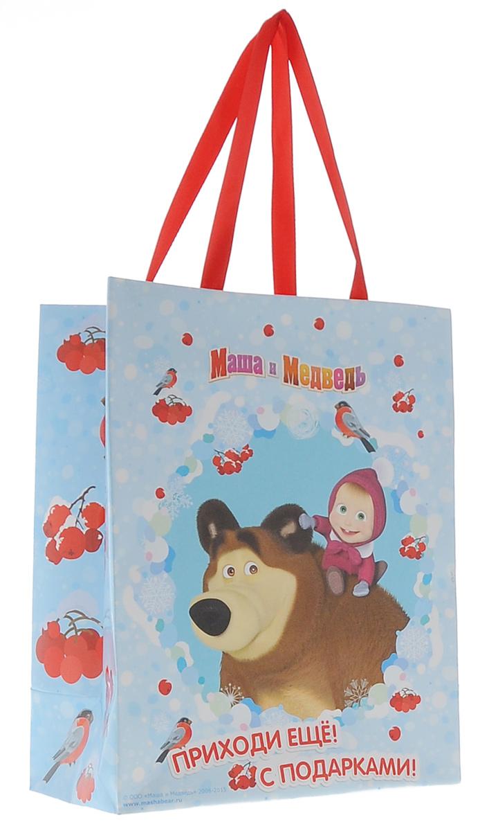 Маша и Медведь Пакет подарочный Маша зимой 23 см 18 см х 10 смK100Яркий подарочный пакет Маша и Медведь Маша зимой с очаровательной героиней мультфильма празднично украсит любой подарок. Для удобной переноски на пакете имеются две атласные ручки.Подарок, преподнесенный в оригинальной упаковке, всегда будет самым эффектным и запоминающимся. Окружите близких людей вниманием и заботой, вручив презент в нарядном, праздничном оформлении.