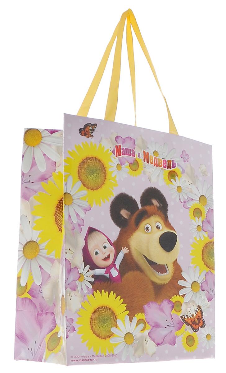 Маша и Медведь Пакет подарочный Маша летом 23 см х 18 см х 107709028_нат/деревоЯркий подарочный пакет Маша и Медведь выполнен из плотной бумаги и оформлен ярким красочным изображением в виде Маши и медведя. Для удобной переноски на пакете имеются две атласные ручки.Подарок, преподнесенный в оригинальной упаковке, всегда будет самым эффектным и запоминающимся. Окружите близких людей вниманием и заботой, вручив презент в нарядном, праздничном оформлении. Подарочный бумажный пакет размером 23х18х10 см