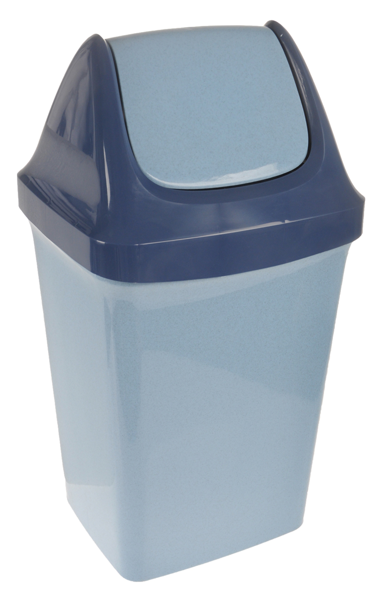 Контейнер для мусора Idea Свинг, цвет: голубой, синий, 25 л68/5/1Контейнер для мусора Idea Свинг, изготовленный из прочного полипропилена, снабжен удобной съемной крышкой с подвижной перегородкой. Благодаря лаконичному дизайну такой контейнер идеально впишется в интерьер и дома, и офиса.