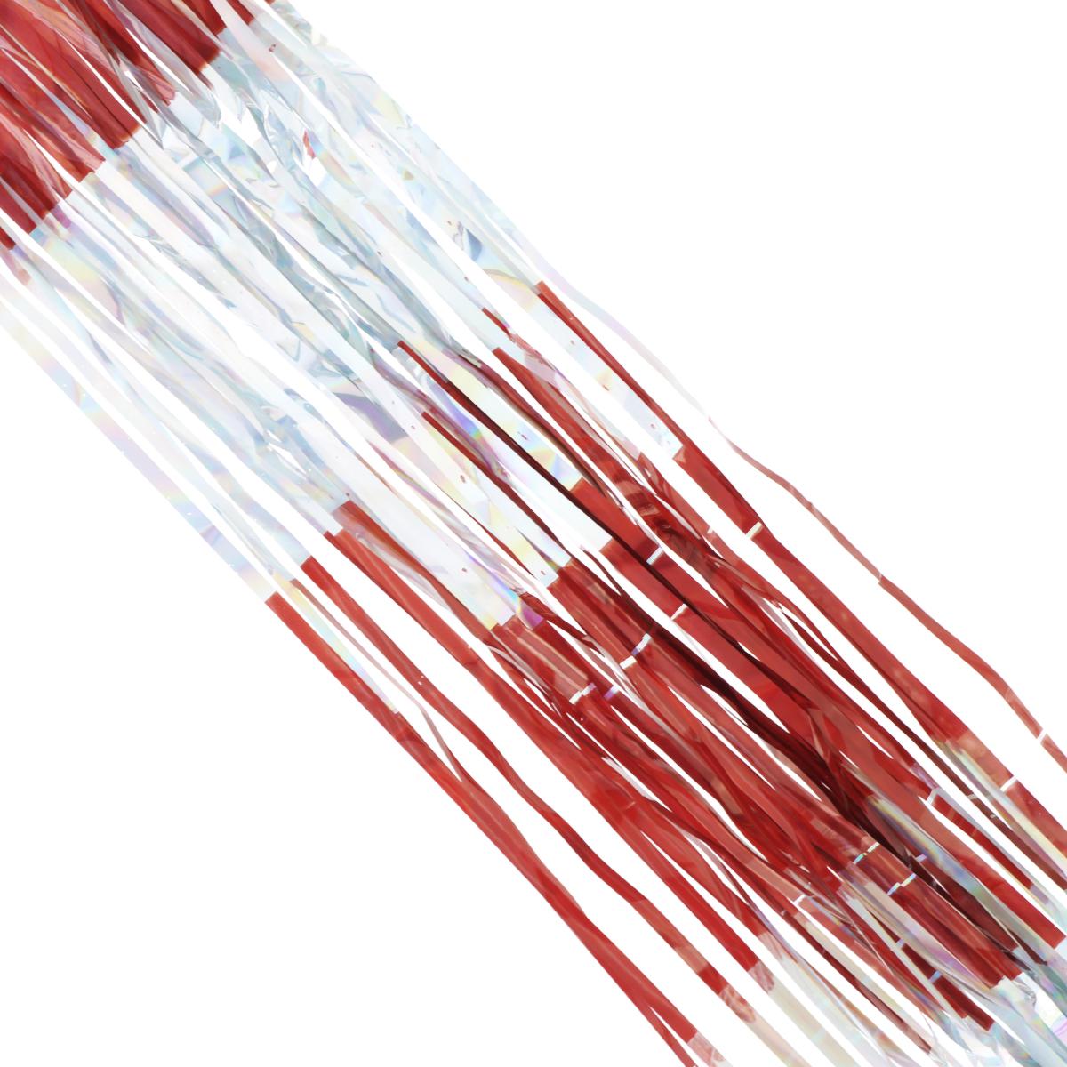 Дождик новогодний Sima-land, цвет: красный, серебристый, 14 см х 150 см. 702538K100Новогодний дождик Sima-land, изготовленный из двухцветной фольги, поможет вам украсить свой дом к предстоящим праздникам. Новогодняя елка с таким украшением станет еще наряднее. Новогодним дождиком можно украсить все, что угодно - елку, квартиру, дачу, офис - как внутри, так и снаружи. Можно сложить новогодние поздравления, буквы и цифры, дождиком можно украсить и дополнить гирлянды, можно выделить дверные колонны, оплести дверные проемы. Коллекция декоративных украшений из серии Зимнее волшебство принесет в ваш дом ни с чем не сравнимое ощущение праздника! Создайте в своем доме атмосферу тепла, веселья и радости, украшая его всей семьей. Ширина: 14 см.