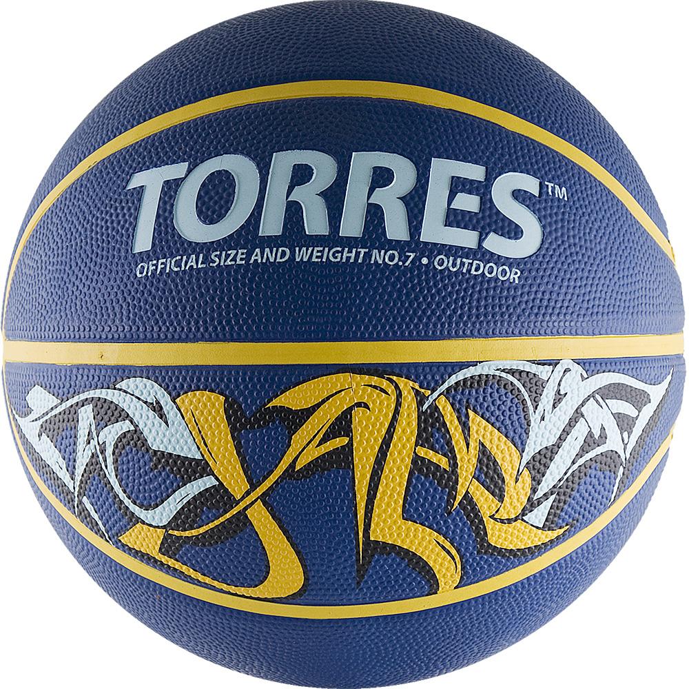 Мяч баскетбольный Torres Jam, цвет: синий, желтый, голубой. Размер 7B00047Баскетбольный мяч Torres Jam обладает ярким уличным дизайном и применяется для любительской игры, а также формирования ассортимента розничных точек продаж. Название Jam заимствовано из баскетбольной терминологии и обозначает бросок сверху.Выполнен из резины, обмотка нейлоновая. Камера выполнена из прочного бутила.Тип соединения панелей: клееный.Вес: 567-650 г.Окружность: 74,9-78 см.УВАЖЕМЫЕ КЛИЕНТЫ!Обращаем ваше внимание на тот факт, что мяч поставляется в сдутом виде. Насос не входит в комплект.