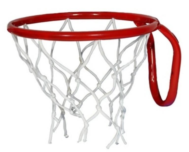 Кольцо баскетбольное №3 с сеткой, М-Торг, 29,5 см, красный