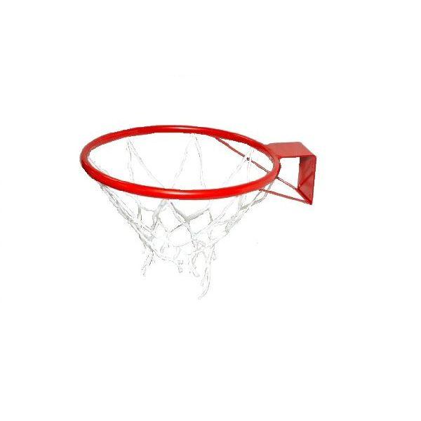 Кольцо баскетбольное №7 с сеткой, М-Торг, 45 см, красный