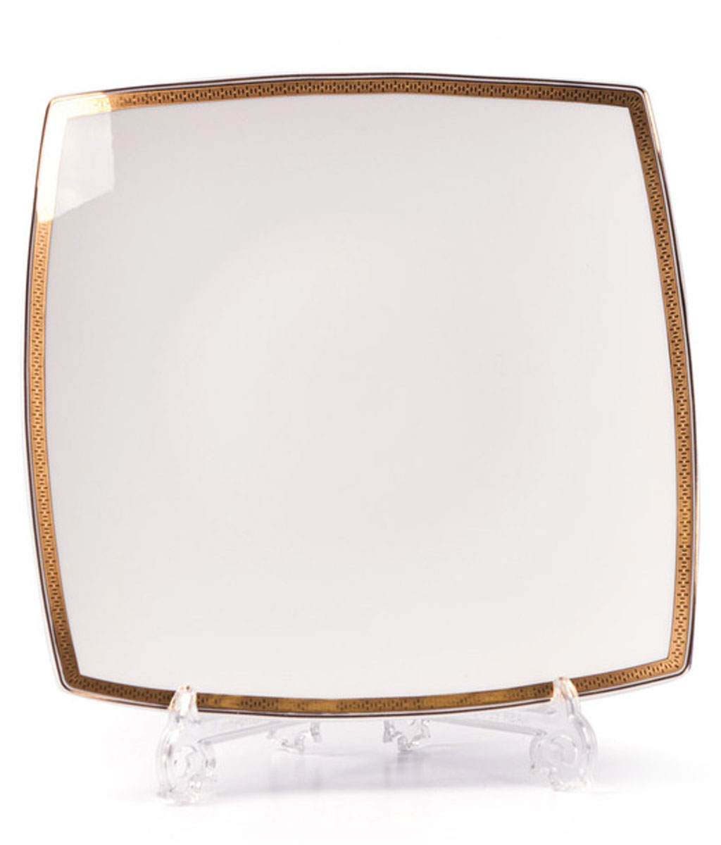 Kyoto 1555 набор тарелок для десерта, 6 шт/уп, цвет: белый с золотом54 009312В наборе тарелка 22 см 6 штук Материал: фарфор: цвет: белый с золотомСерия: KYOTO