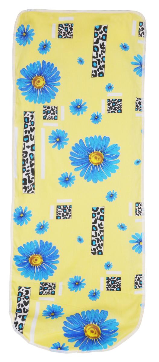 """Чехол для гладильной доски """"Detalle"""", цвет: желтый, синий, 125 х 47 см"""
