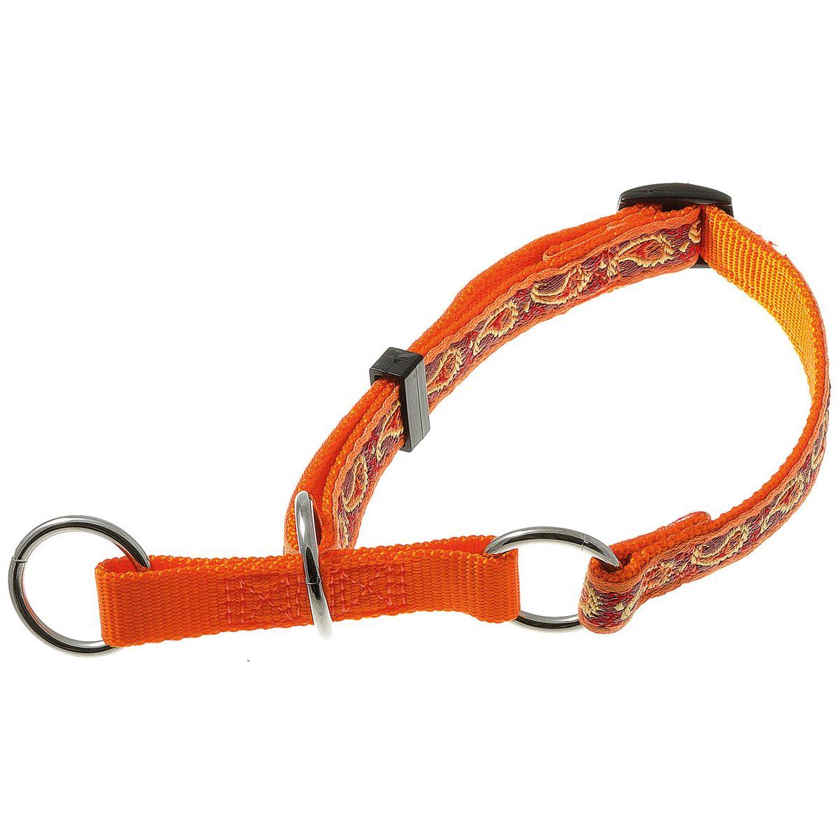 Ошейник для собак V.I.Pet, цвет: оранжевый, ширина 15 мм, обхват шеи 23-43 см0120710Удавкой V.I.Pet удобно пользоваться вместо рывковой цепочки, если собаке не требуется чрезмерно жестких воздействий - для коррекции поведения собаки и при спортивной дрессировке. Также ее можно использовать как обычный прогулочный ошейник.