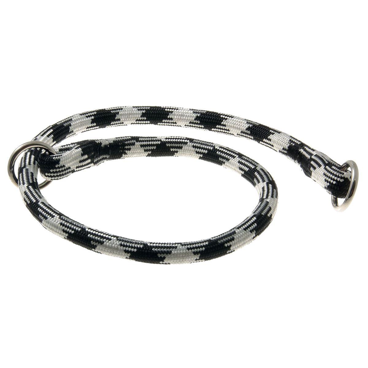 Ошейник для собак V.I.Pet Арлекин, цвет: черный, белый, диаметр 13 мм, длина 70 см73-2441Качественный ошейник V.I.Pet обладает высокой прочностью и прекрасно держит форму. Идеален для длинношерстных пород, так как имеет круглое сечение, шерсть не сминается и не скатывается. Выполняет роль дрессировочного ошейника, с его помощью вы сможете научить питомца командам и корректировать его поведение. Может служить выставочным ошейником.