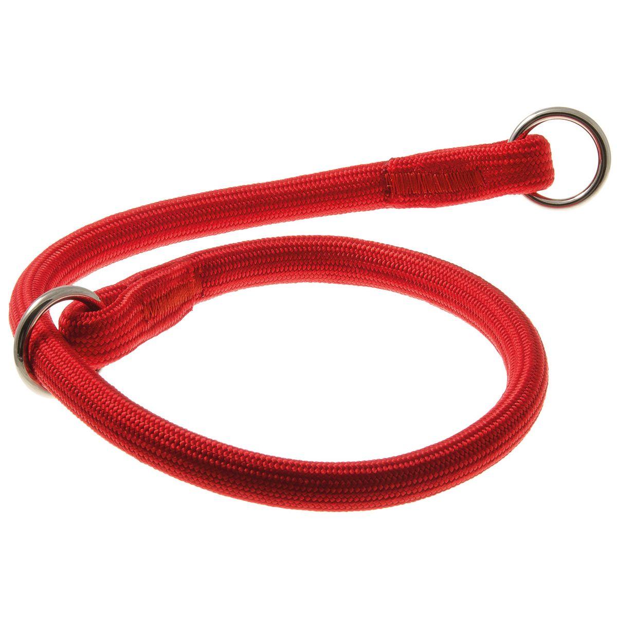 Ошейник для собак V.I.Pet, цвет: красный, диаметр 13 мм, длина 60 см74-2393Качественный ошейник V.I.Pet обладает высокой прочностью и прекрасно держит форму. Идеален для длинношерстных пород, так как имеет круглое сечение, шерсть не сминается и не скатывается. Выполняет роль дрессировочного ошейника, с его помощью вы сможете научить питомца командам и корректировать его поведение. Может служить выставочным ошейником.