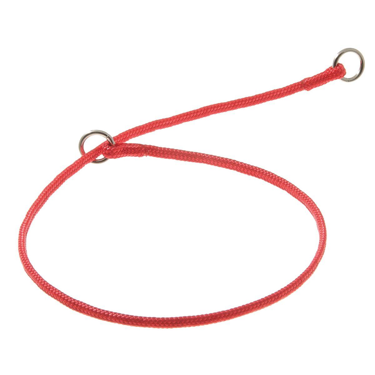 Ошейник для собак V.I.Pet, цвет: красный, диаметр 3 мм, длина 40 см0120710Качественный ошейник V.I.Pet обладает высокой прочностью и прекрасно держит форму. Идеален для длинношерстных пород, так как имеет круглое сечение, шерсть не сминается и не скатывается. Выполняет роль дрессировочного ошейника, с его помощью вы сможете научить питомца командам и корректировать его поведение. Может служить выставочным ошейником.
