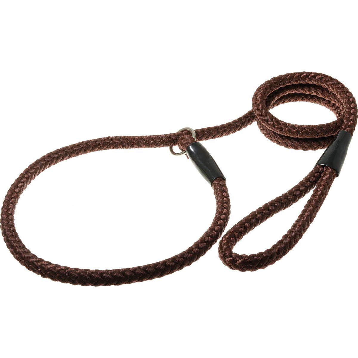 Поводок для собак V.I.Pet, цвет: коричневый, диаметр 12 мм, длина 1,7 мPDE1268BRПоводок-удавка V.I.Pet состоит из петли с фиксатором и, собственно, поводка. Является самым распространенным видом выставочной амуниции. Подходит также для повседневного использования.