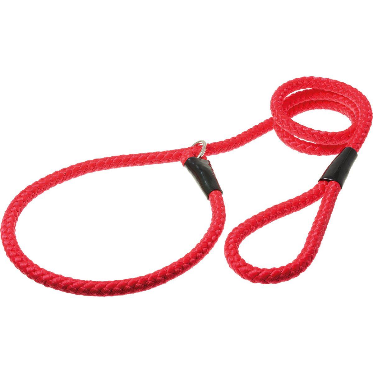 Поводок для собак V.I.Pet, цвет: красный, диаметр 12 мм, длина 1,7 м0120710Поводок-удавка V.I.Pet состоит из петли с фиксатором и, собственно, поводка. Является самым распространенным видом выставочной амуниции. Подходит также для повседневного использования.