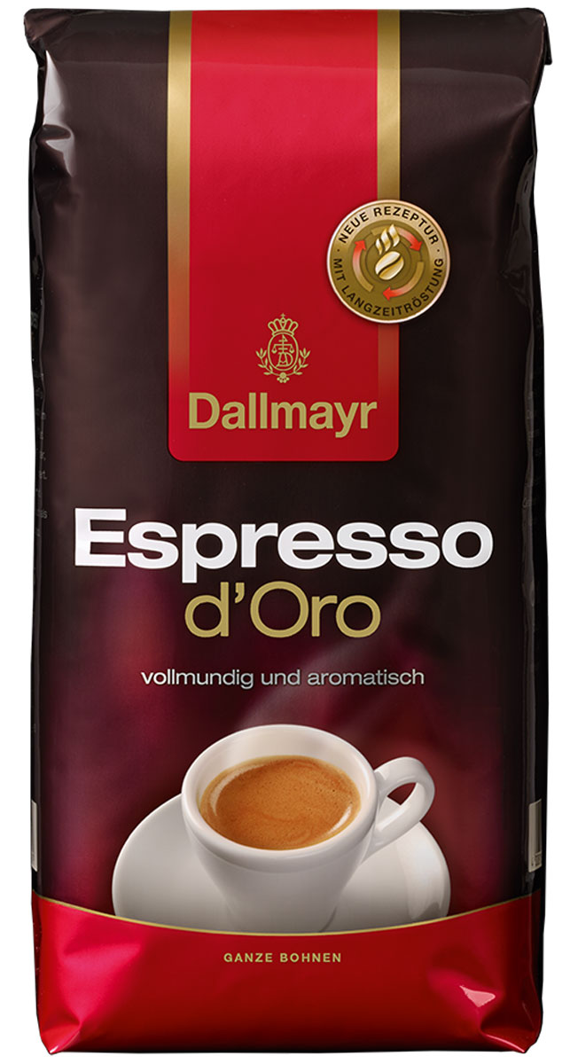 Dallmayr Esspresso dOro кофе в зернах, 1 кг0120710Dallmayr Esspresso dOro - тонкая изысканная композиция зерен с лучших высокогорных плантаций мира. Обладает неповторимым ароматом и нежной пенкой.