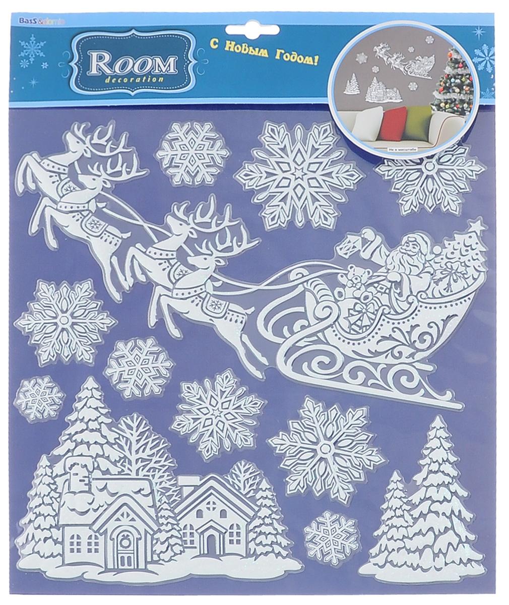 Наклейки для интерьера Room Decoration Спешащий Дед Мороз, объемные33738Наклейки для стен и предметов интерьера Room Decoration Спешащий Дед Мороз, изготовленные из самоклеящейся виниловой пленки, помогут украсить дом к предстоящим праздникам. Наклейки дадут вам вдохновение, которое изменит вашу жизнь и поможет погрузиться в мир ярких красок, фантазий и творчества. Для вас открываются безграничные возможности придумать оригинальный дизайн и придать новый вид стенам и мебели. Наклейки абсолютно безопасны для здоровья. Они быстро и легко наклеиваются на любые ровные поверхности: стены, окна, двери, стекла, мебель. При необходимости удобно снимаются, не оставляют следов. Наклейки Room Decoration Спешащий Дед Мороз помогут вам изменить интерьер вокруг себя: в детской комнате и гостиной, на кухне и в прихожей, витрину кафе и магазина, детский садик и офис.Размер листа: 30,5 см х 31,5 см.Количество наклеек на листе: 12 шт.Размер самой большой наклейки: 29 см х 16 см.Размер самой маленькой наклейки: 3,3 см х 3,3 см.