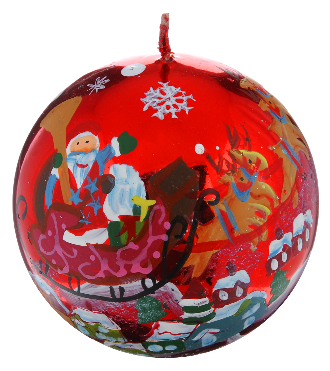 Свеча-шар Winter Wings Дед Мороз, диаметр 7,3 см849480Свеча Winter Wings Дед Мороз, изготовленная из парафина в форме шара, станет прекрасным украшением интерьера помещения в преддверии Нового года. Свеча имеет глянцевое покрытие с красивым новогодним рисунком. Такая свеча создаст атмосферу таинственности и загадочности и наполнит дом волшебством и ощущением праздника. Хороший сувенир для друзей и близких.