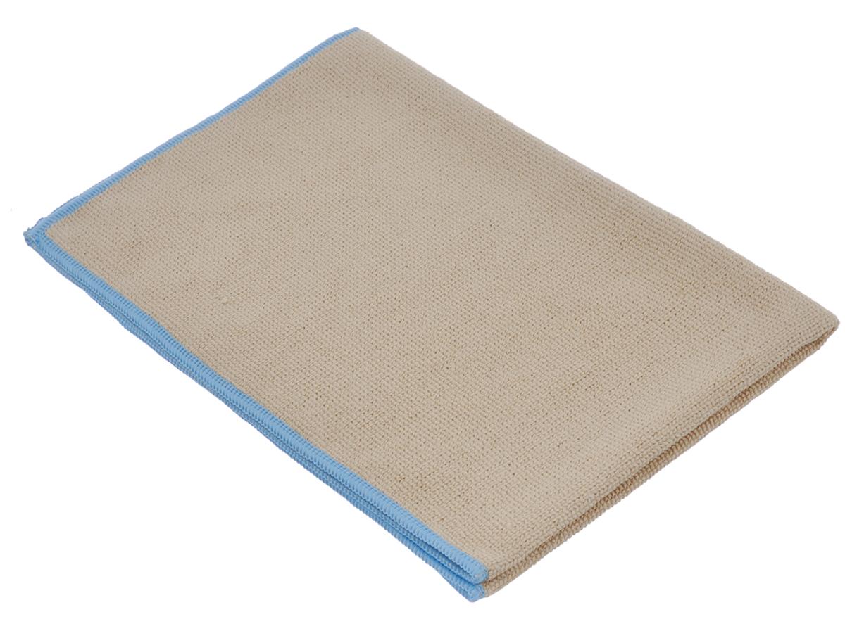 Тряпка для пола Arix, из микрофибры, цвет: бежевый, голубой, 40 см х 60 см303224Тряпка для пола Arix изготовлена из микрофибры. Тончайшие волокна, из которых она состоит, глубоко очищают без моющих средств, удаляя и задерживая грязь, жир, смазку, проникая в самые труднодоступные места. Чистит быстро, эффективно, экономит ваши средства! Мягкая, прочная, легко прополаскивается в воде, можно использовать вместе с любой щеткой. Подходит для всех типов полов.