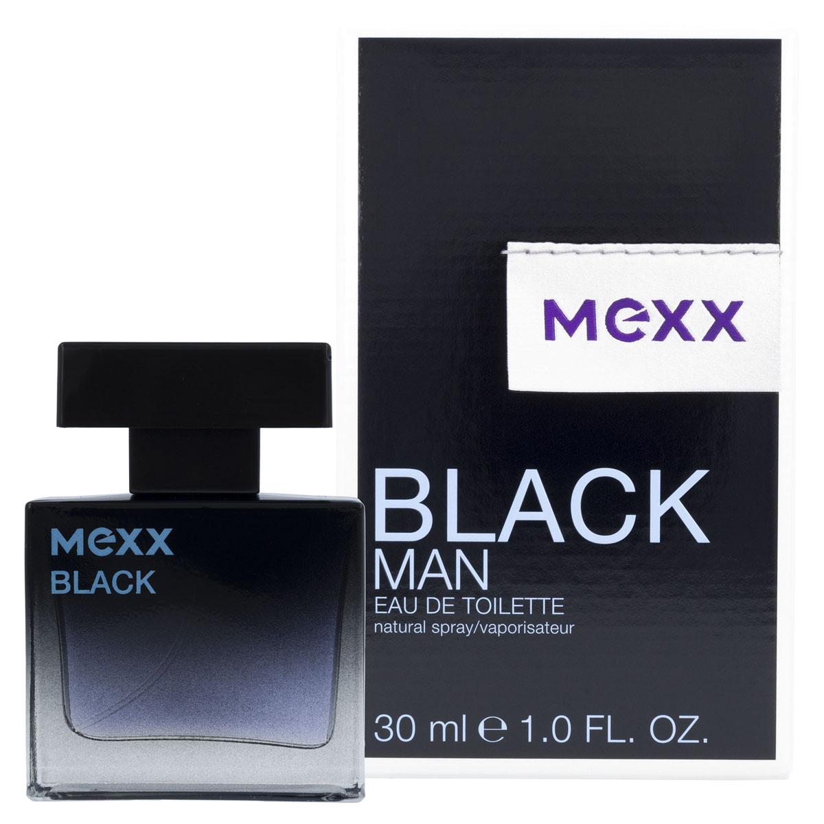 """Mexx Black Man Туалетная вода, 30 мл0737052681900Элегантный и стильный. Серьезный и сексуальный. Это черный. С черным цветом он чувствует, что готов к любым непредсказуемым событиям, которые могут с ним произойти… Его интеллект и жажда новых эмоций раскрывают характер современного мужчины. С """"Mexx Black"""" он чувствует энергию и уверенность в собственном успехе.Дизайн флакона строгий и лаконичный: прямоугольный блок из массивного стекла, плавный переход от таинственного черного к сдержанному голубому цвету подчеркивают престиж и современность аромата. Упаковка играет визуальными эффектами.Ключевые слова: Мужественный, элегантный, харизматичный, уверенный, благородный"""