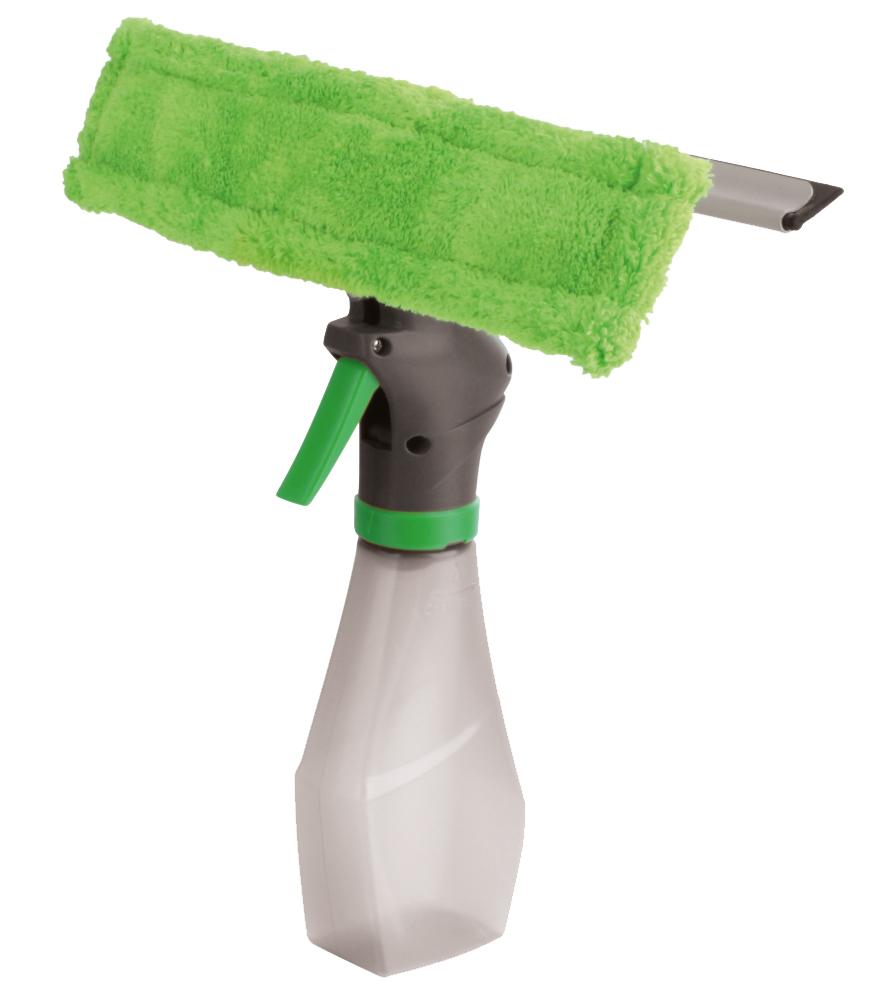 Стекломойка York, с распылителем, с насадкой, с водосгоном, цвет: салатовый, серыйK100Стекломойка York с насадкой из микрофибры, съемным резиновым водосгоном и распылителем станет незаменимым помощником при уборке. Ее можно использовать для мытья стекол как дома, так и в автомобиле.Удобная рукоятка выполнена из пластика и имеет телескопическую форм. Оригинальная, современная и удобная стекломойка сделает уборку эффективнее и приятнее.Размер насадки: 26 см х 6 см х 2 см.Размер водосгона: 25,2 см х 2 см. Объем распылителя: 250 мл.