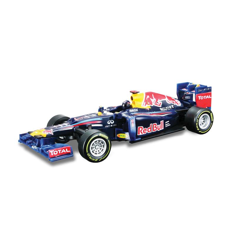 """Машинка на инфракрасном управлении Bburago """"Redbull Формула-1 2012"""" непременно понравится вашему малышу. Выполненная из безопасного прочного пластика модель представляет собой точную копию гоночного автомобиля команды Redbull Формула-1 2012 года в масштабе 1/32. При помощи инфракрасного пульта управления, который так легко крепится на запястье маленького гонщика, машинка может двигаться влево, вправо, назад и вперед. Ремешок инфракрасного пульта управления имеет 3 положения крепления. Для управления машиной на инфракрасном пульте расположен руль и несколько кнопок. Дальность действия пульта - 10 метров. Игрушечные машинки - незаменимый спутник роста и развития мальчиков! Во все времена игры в машинки были самыми популярными у детей. В процессе игры ребенок развивает координацию движений и меткость, пространственное и образное мышление, воображение, мелкую моторику. С мини-модельками автомобилей Bburago игра станет настолько увлекательной, что оторваться будет невозможно!..."""