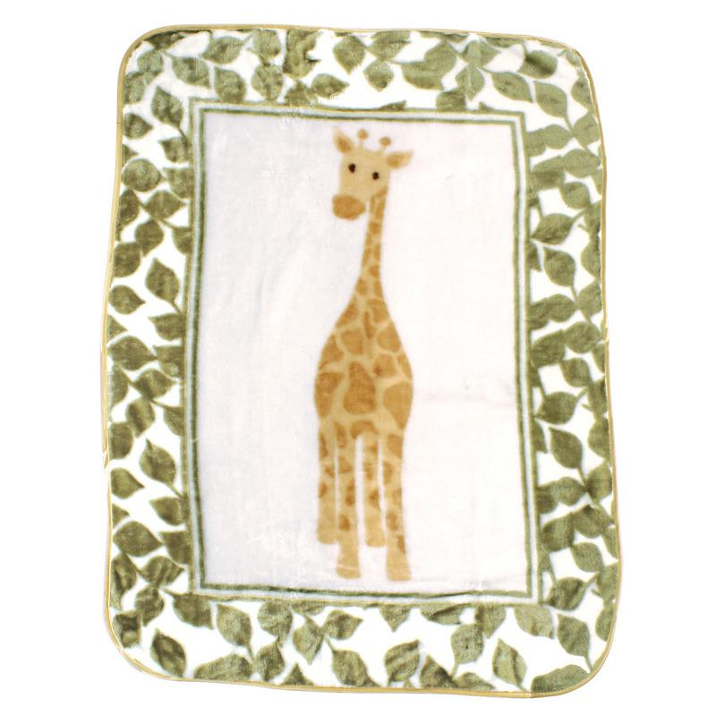 Luvable Friends Плед Жираф (плюш), 76 х 102 см, цвет: зеленый15484Привлекательный плед для новорождённых торговой марки Luvable Friends. Плед привлекает внимание за счёт своего яркого и весёлого принта по всей поверхности. Мягкая плюшевая фактура приятна на ощупь, согревает малыша, создаёт комфорт и уют. По краям плед обшит атласной лентой. Такой плед необыкновенно практичен и многофункционален.