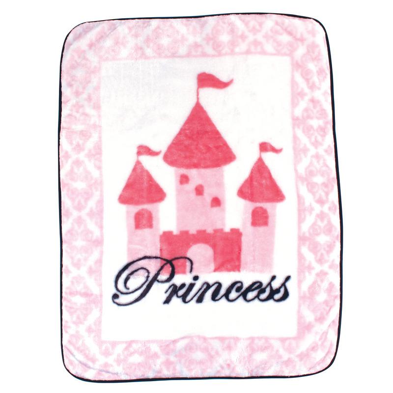 Luvable Friends Плед Замок (плюш), 76 х 101 см, цвет: розовый520313Привлекательный плед для новорождённых торговой марки Luvable Friends. Плед привлекает внимание за счёт своего яркого и весёлого принта по всей поверхности. Мягкая плюшевая фактура приятна на ощупь, согревает малыша, создаёт комфорт и уют. По краям плед обшит атласной лентой. Такой плед необыкновенно практичен и многофункционален.