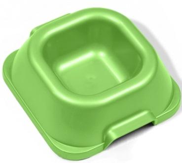 Миска для животных VanNess, цвет: зеленый, 340 мл0120710Миска VanNess, изготовленная из цветного пластика, предназначена для подачи корма и воды. Изделие подходит как для кошек, собак, так и для грызунов. Объем: 340 мл.