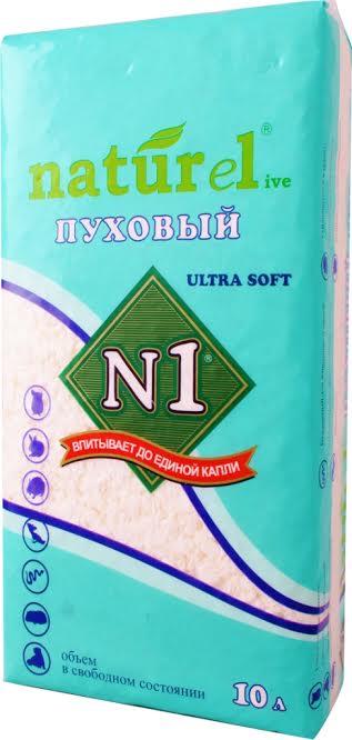 """№1 Наполнитель Naturel """"Пуховый"""" ultra soft 10 л"""