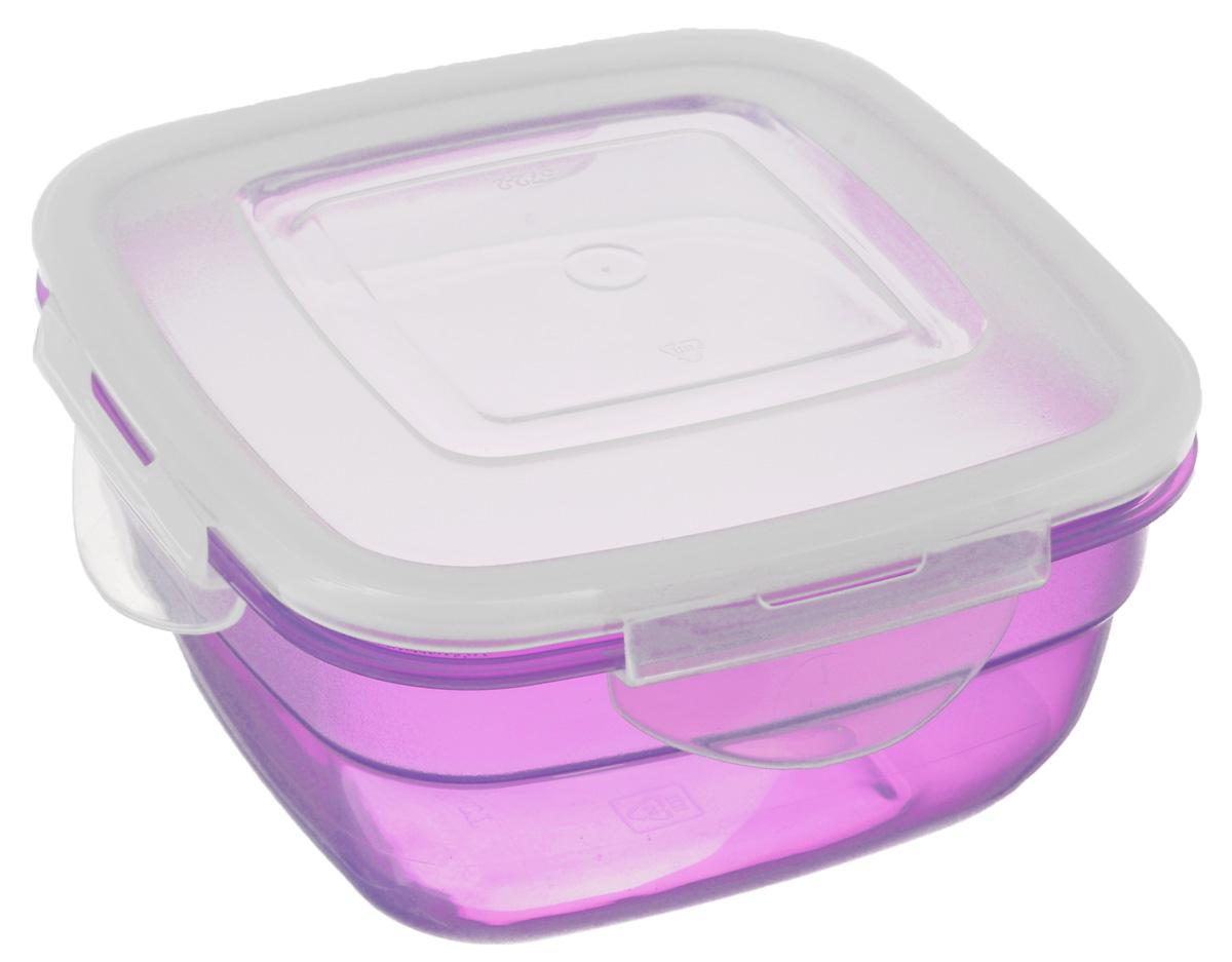 Контейнер Phibo Safe-Food, цвет: прозрачный, сиреневый, 0,6 л4630003364517Контейнер Phibo Safe-Food изготовлен из высококачественного полипропилена и не содержит Бисфенол А. Крышка контейнера прозрачная, плотно закрывается на 4 защелки. Контейнер устойчив к воздействию масел и жиров, легко моется. Подходит для использования в микроволновых печах при температуре до +100°С, выдерживает хранение в морозильной камере при температуре -24°С, его можно мыть в посудомоечной машине при температуре до +95°С.Объем контейнера: 0,6 л.