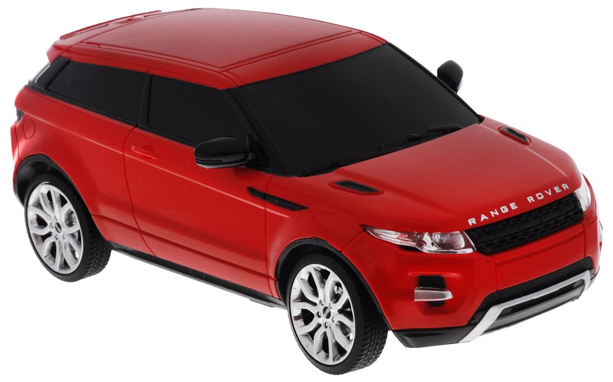 """Радиоуправляемая модель Rastar """"Range Rover Evoque"""" станет отличным подарком любому мальчику! Все дети хотят иметь в наборе своих игрушек ослепительные, невероятные и крутые автомобили на радиоуправлении. Тем более, если это автомобиль известной марки с проработкой всех деталей, удивляющий приятным качеством и видом. Одной из таких моделей является автомобиль на радиоуправлении Rastar """"Range Rover Evoque"""". Это точная копия настоящего авто в масштабе 1:24. Возможные движения: вперед, назад, вправо, влево, остановка. Имеются световые эффекты. Пульт управления работает на частоте 27 MHz. Для работы игрушки необходимы 3 батарейки типа АА (не входят в комплект). Для работы пульта управления необходимы 2 батарейки типа АА (не входят в комплект)."""