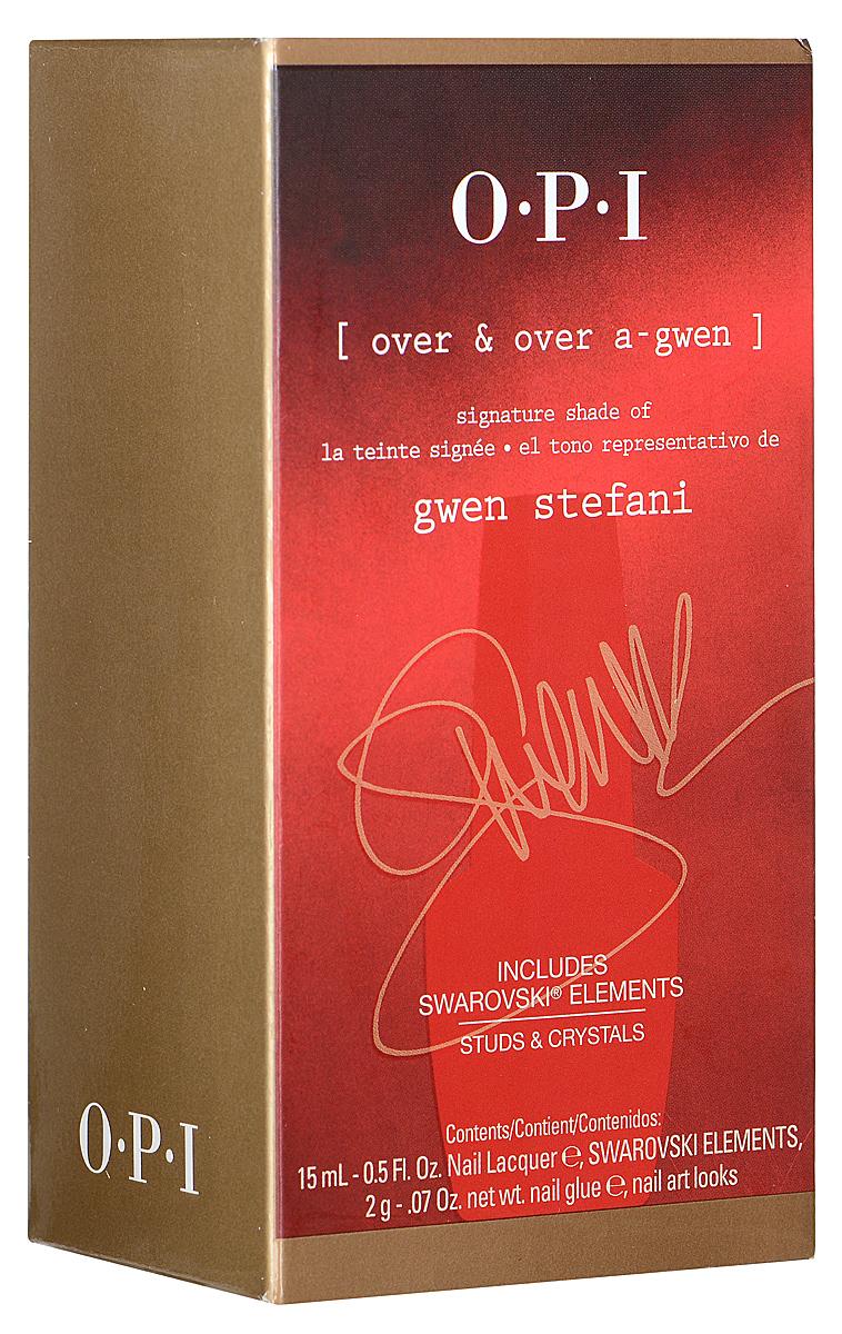OPI Набор для дизайна ногтей Gwen Stefani: лак для ногтей, тон Over & Over A-Gwen, 15 мл, клей, 2 г, украшения для ногтейB2704104Набор для дизайна ногтей Gwen Stefani включает в себя лак для ногтей Over & Over A-Gwen, клей и декоративные украшения для ногтей. Этот оттенок лака выпущен только в составе набора и отдельно в продажу не поступит.Лак быстросохнущий, содержит натуральный шелк, перламутр и аминокислоты. Увлажняет и ухаживает за ногтями. Однородно ложится и равномерно распределяется по всей поверхности ногтевой пластины.Точно рассчитанная длина и диаметр колпачка, который не скользит в руках, делает его удобным для любого размера и формы пальцев. Уплотненное дно придает флакону устойчивость. Каждый флакон лака для ногтей отличает эксклюзивная кисточка ProWide для идеально точного нанесения лака на ногти. Товар сертифицирован.