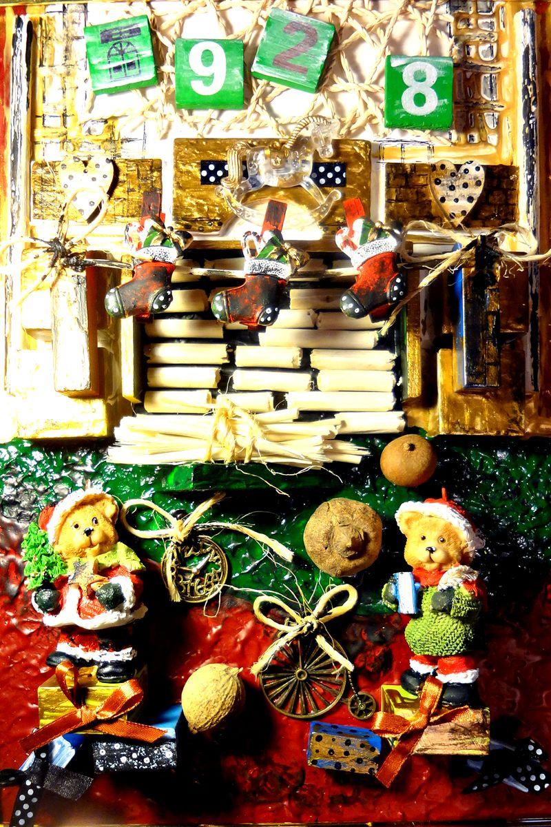 Авторская объемная картина для детской Рождественский вечер, 35 х 25 см1717Нет ничего прекраснее ощущения праздника! Сказочная картина для детской украшена объемными декоративными элементами.Создана картина в стиле старых винтажных картин. Холст на картоне, акрил, объемные декоративные элементы. Багет. Подвес на обратной стороне.Картина не требует дополнительной защиты, ее достаточно повесить на стену. Оформления не нужно. Ронять не рекомендуется.