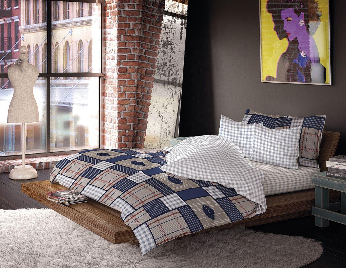 Комплект белья Волшебная ночь Сатин, 1,5-спальный, наволочки 70x70, 40х40см, цвет: серый, синийFA-5125 WhiteРоскошный комплект постельного белья Волшебная ночь выполнен из сатина (100% хлопка), имеет орнамент в клетку. Комплект состоит из пододеяльника, простыни и трех наволочек. Третья дополнительная наволочка в комплектации размером 40 х 40 см.Доверьте заботу о качестве вашего сна высококачественному натуральному материалу.