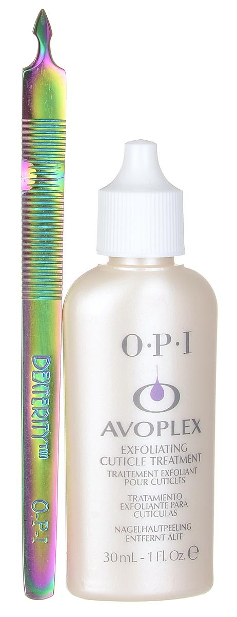 OPI Набор для маникюра и педикюра: средство для размягчения кутикулы Avoplex, 30 мл, инструмент для очищения ногтевой пластины Dexterity, двустороннийSatin Hair 7 BR730MNНабор для маникюра и педикюра от OPI включает в себя средство для размягчения кутикулы Avoplex и двусторонний инструмент для очищения ногтевой пластины Dexterity, который легко справляется с чувствительной кутикулой и применятся для подготовки поверхности натуральных ногтей.Уникальная формула крема Avoplex легко и безболезненно проникает в кожу, размягчая клетки кутикулы с помощью уникальной смеси фруктовых альфагидроксильных кислот и липидного комплекса авокадо. Масло авокадо и лецитин питают обновлённые клетки кутикулы. Средство обладает легким огуречно-цитрусовым ароматом.Dexterity сдвигает кутикулу, вызывая минимум дискомфорта, не позволяя повреждать зону матрикса и кутикулы. Выполнен вручную из медицинской стали. Может подвергаться дезинфекции и, желательно, его использовать вместе с антисептическим гелем для рук. Изделие предназначено для профессионалов и имеет неограниченный срок службы.Товар сертифицирован.