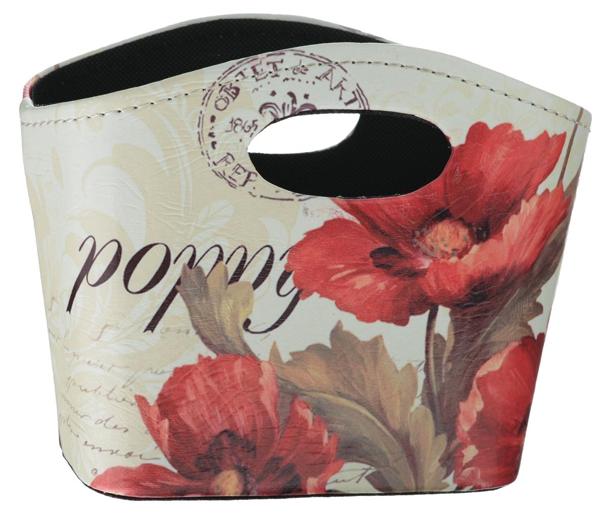 Сумка для хранения El Casa Маки, 20 х 11 х 16 смCLP446Интерьерная сумка El Casa Маки, выполненная из МДФ, текстиля и искусственной кожи, понравится всем ценителям оригинальных вещей. Благодаря прекрасному дизайну и необычной форме, такая сумка будет отлично смотреться в вашей гостиной или коридоре. В ней можно хранить всевозможные мелочи: расчески, заколки, журналы или газеты. Сумка El Casa Маки станет отличным подарком для ваших друзей и близких.
