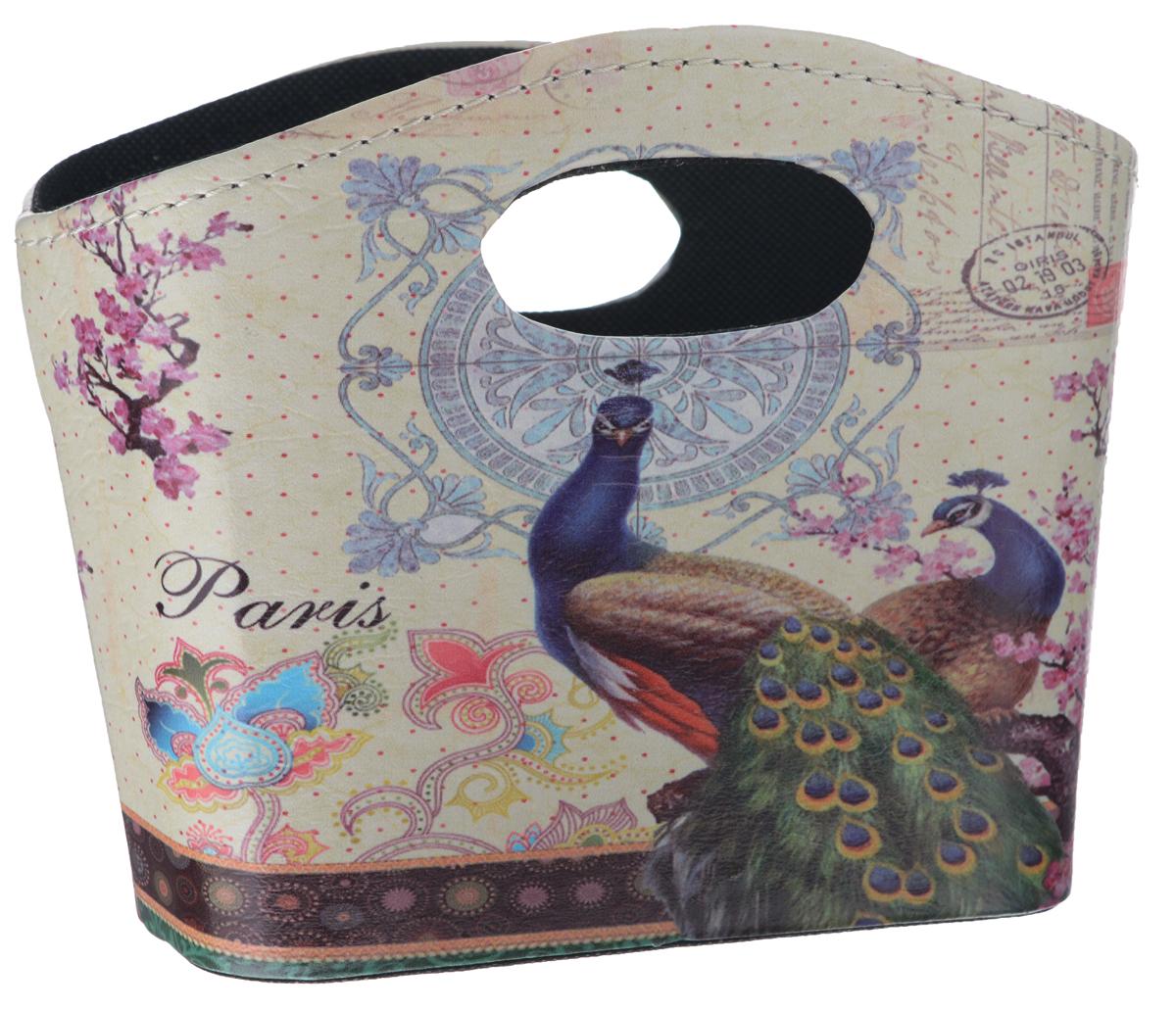 Сумка для хранения El Casa Павлины, 20 см х 11 см х 16 смV30 AC DCИнтерьерная сумка El Casa Павлины, выполненная из МДФ и текстиля, понравится всем ценителям оригинальных вещей. Благодаря прекрасному дизайну и необычной форме, такая сумка будет отлично смотреться в вашей гостиной или коридоре. В ней можно хранить всевозможные мелочи: расчески, заколки, журналы или газеты. Сумка El Casa Павлины станет отличным подарком для ваших друзей и близких.