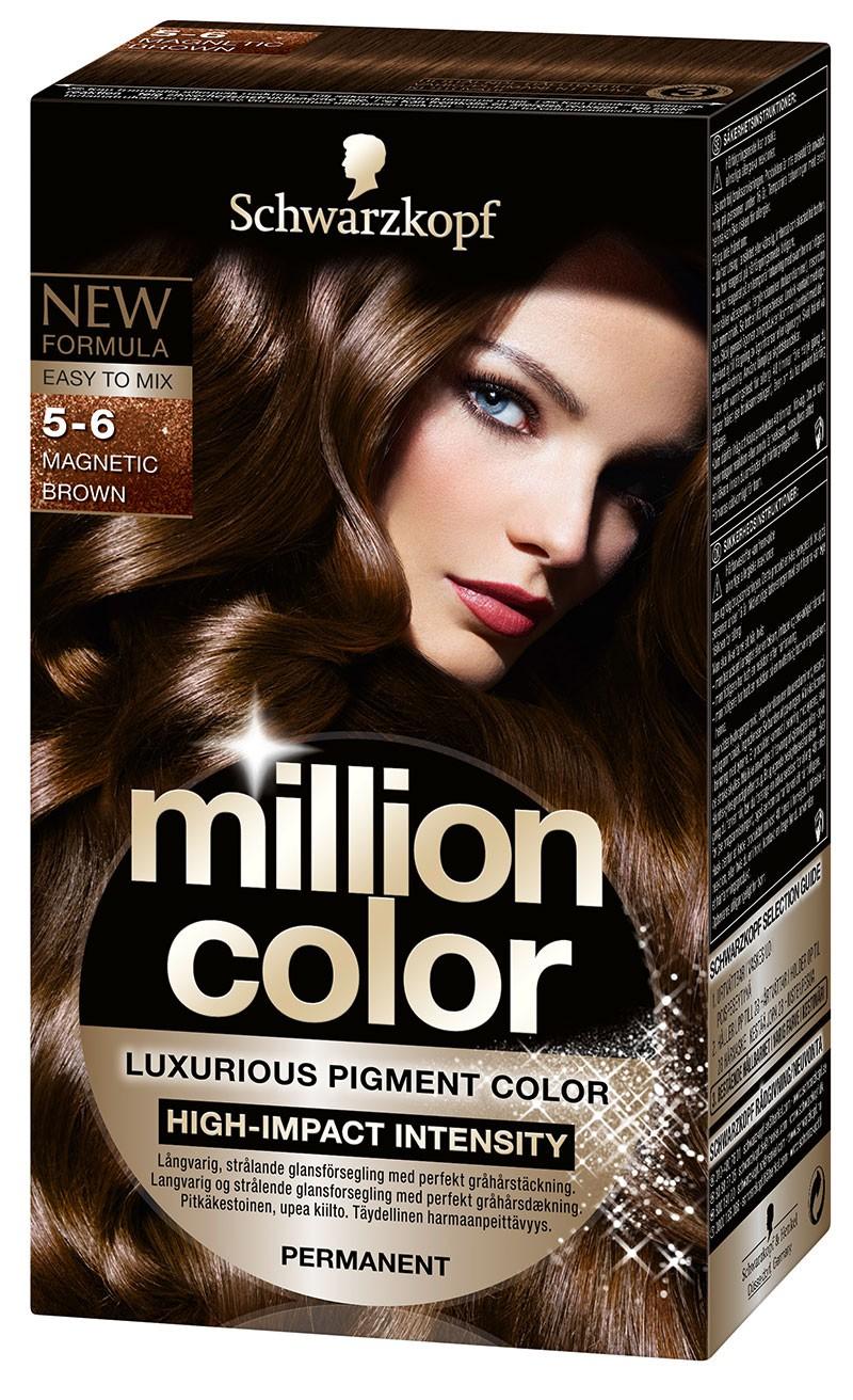 Schwarzkopf Краска для волос Million Color, 5-6. Магнетический КаштановыйMP59.4DКраска для волос Schwarzkopf Million Color - первая стойкая интенсивная крем-краска на основе пудры с миллионами красящих пигментов. Чистые цветовые пигменты при смешивании с проявляющей эмульсией превращаются в роскошную сияющую крем-краску. Простое смешивание и нанесение, не течет! Насладитесь невероятной интенсивностью! Превосходный насыщенный стойкий цвет. Надежное закрашивание седины. Кондиционер-блеск для интенсивного ухода и сияющего цвета с блестящими переливами.Способ применения: возьмите саше с сияющей пудрой за уголок и встряхните его, чтобы пигменты осели на дне саше. Пересыпьте пудру с красящими пигментами во флакон с проявляющей эмульсией и тщательно встряхните до образования однородного блестящего крема.Теперь насыщенный, роскошный окрашивающий крем можно легко нанести на волосы и распределить по всей длине, без подтеков. Характеристики: Номер краски: 5-6. Цвет: магнетический каштановый. Степень стойкости: 3 (обеспечивает стойкое окрашивание). Объем флакона-аппликатора с проявляющей эмульсией: 100 мл. Объем кондиционера: 15 мл. Объем саше с пигментами в пудре: 11 г. Производитель: Германия. В комплекте: 1 флакон-аппликатор с проявителем, 1 саше с пигментами в пудре, 1 кондиционер-блеск, 1 наконечник аппликатора, 1 пара перчаток, инструкция по применению. Товар сертифицирован.ВНИМАНИЕ! Продукт может вызвать аллергическую реакцию, которая в редких случаях может нанести серьезный вред вашему здоровью. Проконсультируйтесь с врачом-специалистом передприменениемлюбых окрашивающих средств. Состав: Пудра с пигментами: Sodium Metasilicate · Ammonium Chloride · Toluene-2,5-Diamine Sulfate · Mica · Magnesium Carbonate Hydroxide · CI 77499 · Resorcinol · m-Aminophenol · Paraffinum Liquidum · CI 77891 · 2,4-Diaminophenoxyethanol HCl · Parfum · Linalool · Tetramethyl Acetyloctahydronaphthalenes · Aqua.Проявляющая эмульсия: Aqua · Hydrogen Peroxide · Cetearyl Alcohol · PEG-40 Castor Oil 