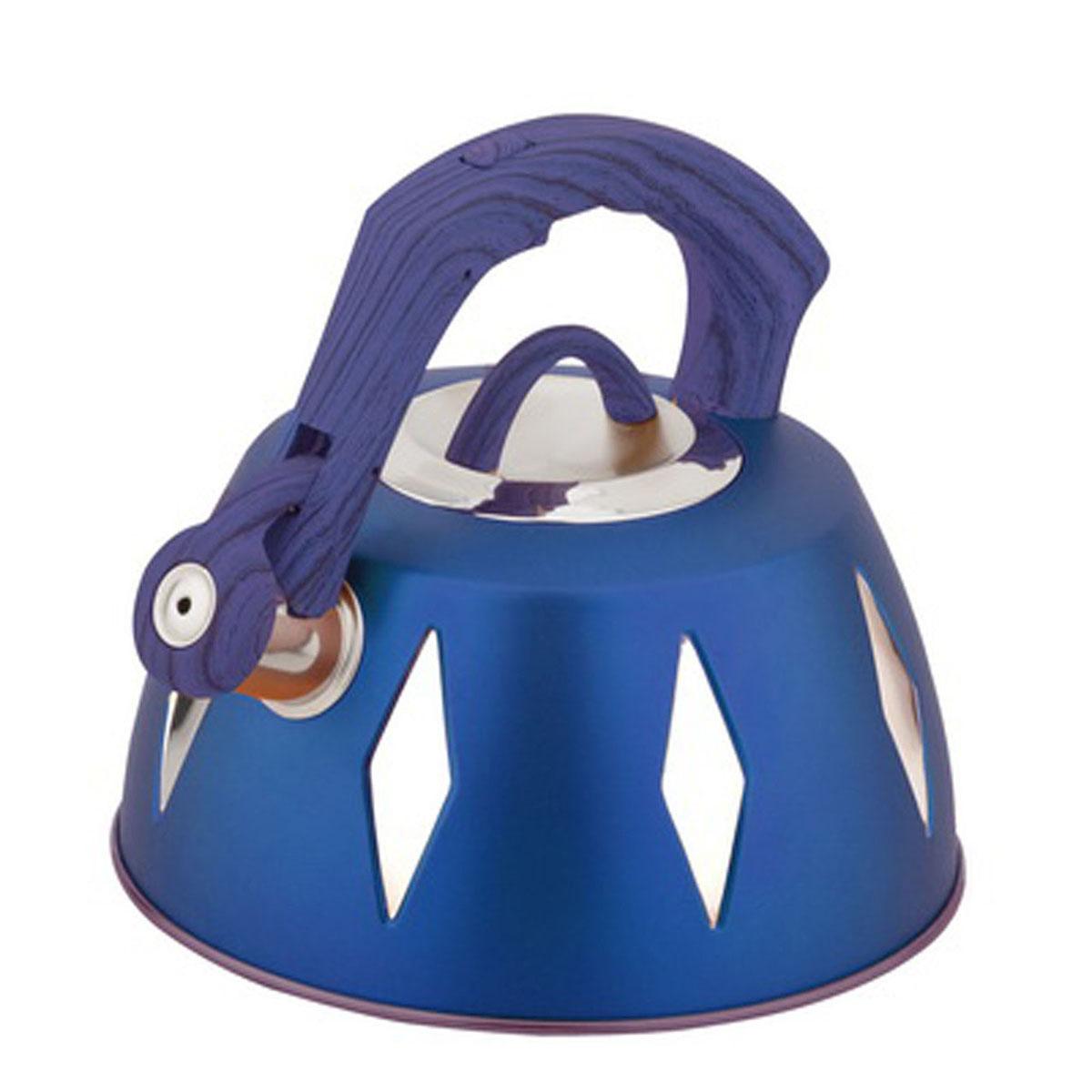 Чайник Bohmann со свистком, 3,5 л, цвет: синий9968BHNEW_синийЧайник Bohmann изготовлен из высококачественной нержавеющей стали с цветным матовым покрытием. Нержавеющая сталь - материал, из которого в течение нескольких десятилетий во всем мире производятся столовые приборы, кухонные инструменты и различные аксессуары. Этот материал обладает высокой стойкостью к коррозии и кислотам. Прочность, долговечность и надежность этого материала, а также первоклассная обработка обеспечивают практически неограниченный запас прочности и неизменно привлекательный внешний вид. Капсульное дно позволяет изделию быстро нагреваться и дольше сохранять тепло. Чайник оснащен фиксированной прорезиненной цветной ручкой, что предотвращает появление ожогов и обеспечивает безопасность использования. Носик чайника имеет откидной свисток, который подскажет, когда вода закипела. Можно использовать на газовых, электрических, галогенных, стеклокерамических, индукционных плитах. Можно мыть в посудомоечной машине. Высота чайника (без учета ручки и крышки): 11,2 см. Высота чайника (с учетом ручки): 20 см. Диаметр основания чайника: 22,3 см. Диаметр чайника (по верхнему краю): 9,5 см.