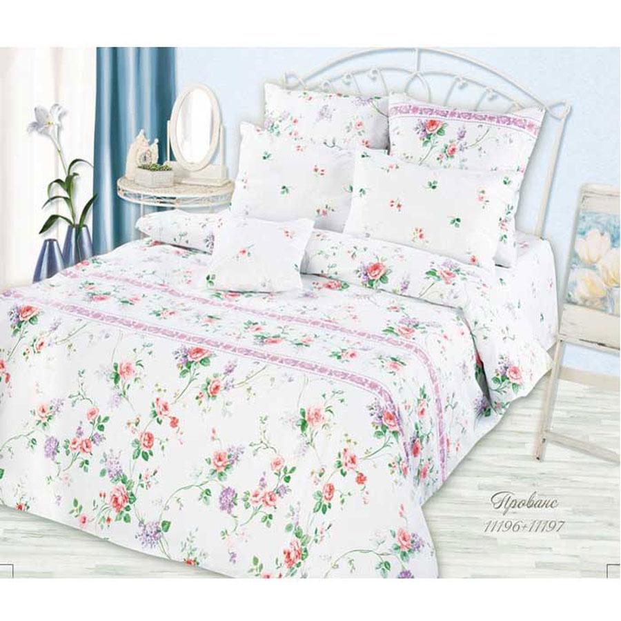 Комплект белья Romantic Прованс, 1,5-спальный, наволочки 50х70, цвет: белый, розовый, сиреневыйK100Роскошный комплект постельного белья Romantic Прованс выполнен из ткани Lux Cotton, произведенной из натурального длинноволокнистого мягкого 100% хлопка. Ткань приятная на ощупь, при этом она прочная, хорошо сохраняет форму и легко гладится. Комплект состоит из пододеяльника, простыни и двух наволочек, оформленных оригинальным цветочным принтом. Постельное белье Romantic создано специально для утонченных и романтичных натур. Дизайн постельного белья подчеркнет ваш индивидуальный стиль и создаст неповторимую и романтическую атмосферу в вашей спальне.