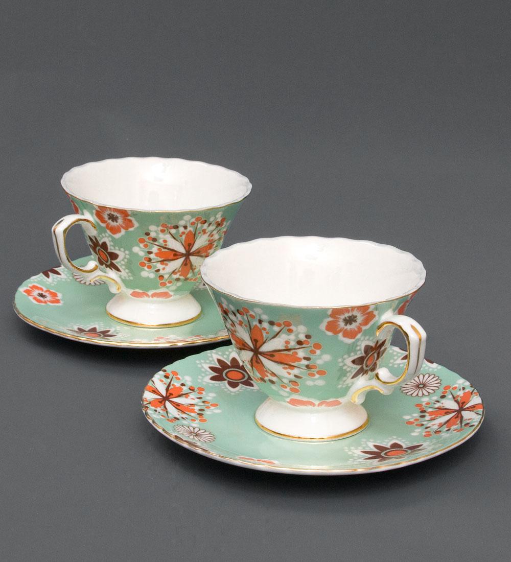 Набор чайный Pavone Антонелла, цвет: зеленый, 4 предмета115510Чайный набор Pavone Антонелла, выполненный из высококачественного фарфора, состоит из 2 чашек и 2 блюдец. Предметы набора декорированы изображением цветов. Изделия прекрасно подойдут как для повседневного использования, так и для праздников. Набор Pavone Антонелла - это не только яркий и полезный подарок для родных и близких, но и великолепное дизайнерское решение для вашей кухни или столовой. Объем чашки: 200 мл. Высота чашки: 8 см. Диаметр блюдца: 16 см.