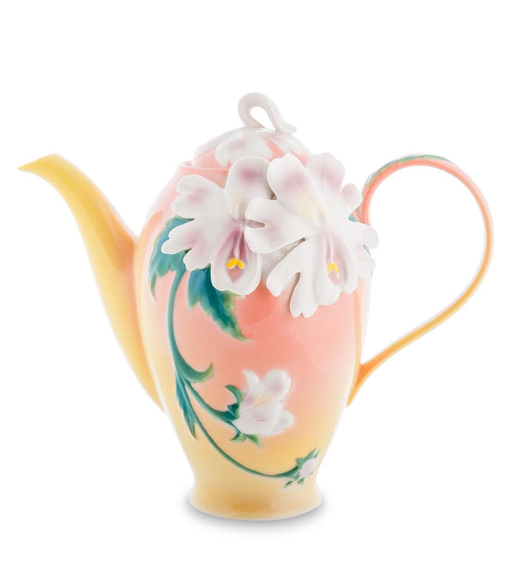 Чайник заварочный Pavone Сальпиглоссис, 1,1 л9535BHЧайник заварочный Pavone Сальпиглоссис изготовлен из высококачественной фарфора. Изделие декорировано объемным изображением цветов. Такой чайник прекрасно дополнит сервировку стола к чаепитию и станет его неизменным атрибутом.