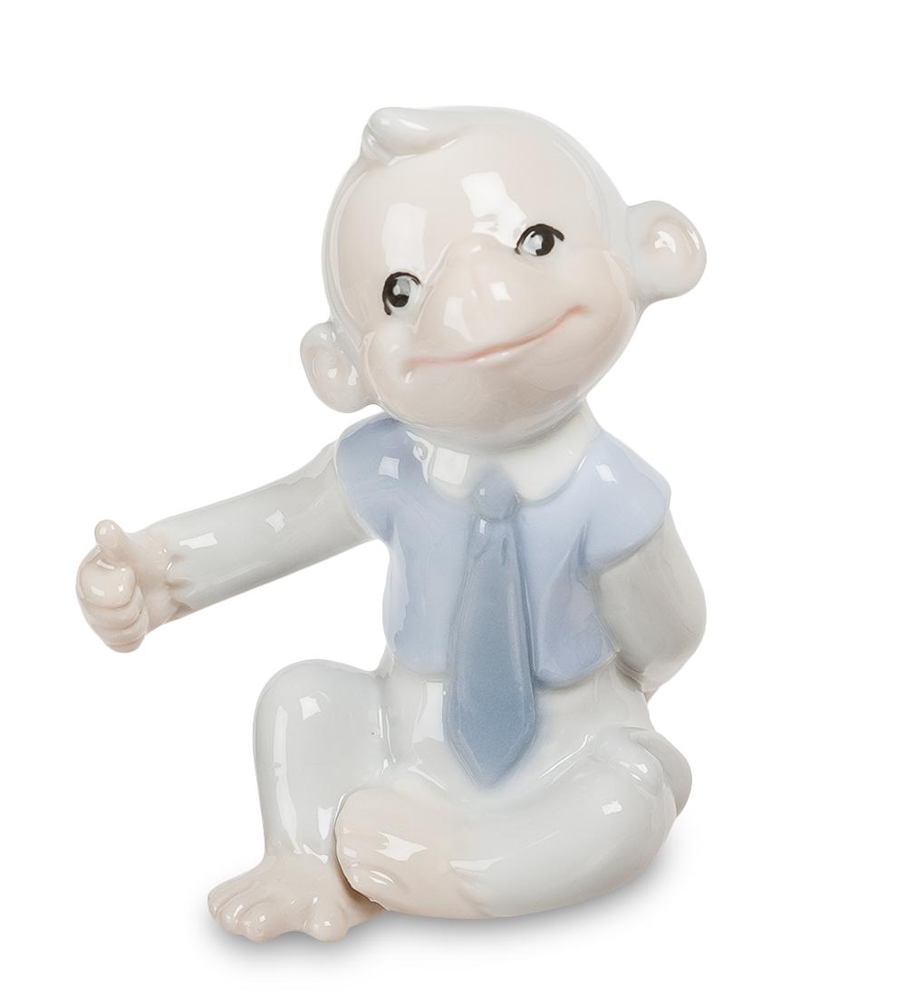 Фигурка декоративная Pavone Обезьяна. 10741997775318Декоративная фигурка Pavone Обезьяна станет оригинальным подарком для всех любителей стильных вещей. Сувенир выполнен из высококачественного фарфора в виде обезьянки. Изысканный сувенир станет прекрасным дополнением к интерьеру. Вы можете поставить фигурку в любом месте, где она будет удачно смотреться и радовать глаз.