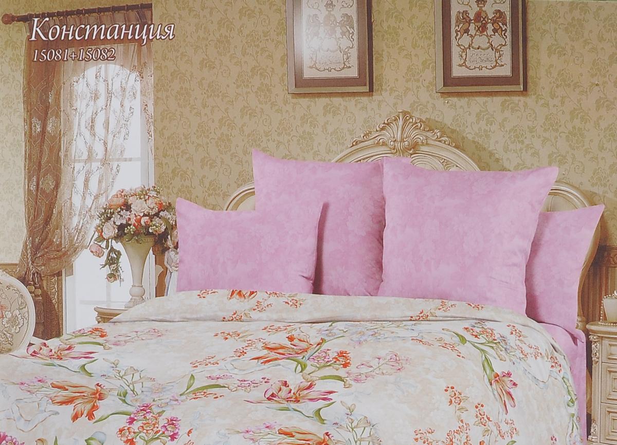 Комплект белья Romantic Констанция, семейный, наволочки 50х70, цвет: розовый, бежевый. 319131CA-3505Роскошный комплект постельного белья Romantic Констанция выполнен из ткани Lux Cotton, произведенной из натурального длинноволокнистого мягкого 100% хлопка. Ткань приятная на ощупь, при этом она прочная, хорошо сохраняет форму и легко гладится. Комплект состоит из пододеяльника, простыни и двух наволочек, оформленных цветочным принтом. Постельное белье Romantic создано специально для утонченных и романтичных натур. Дизайн постельного белья подчеркнет ваш индивидуальный стиль и создаст неповторимую и романтическую атмосферу в вашей спальне.