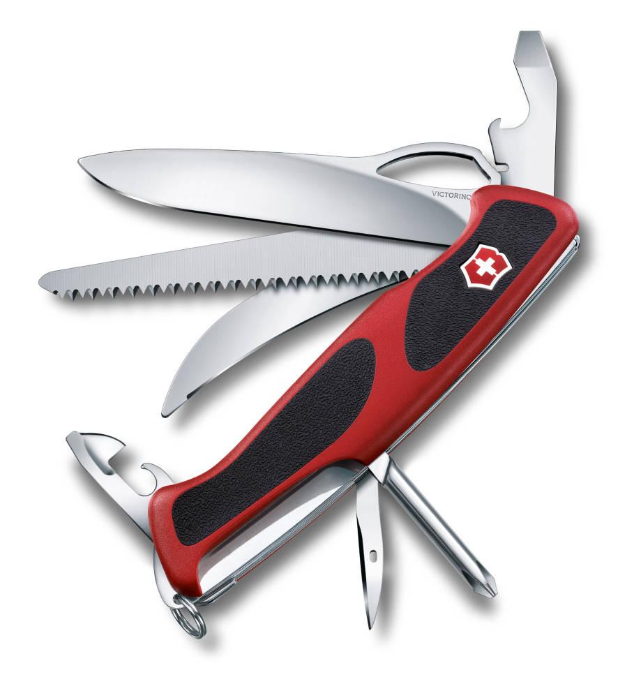Нож перочинный Victorinox RangerGrip 58 Hunter 0.9683.MC, цвет: красный, черный
