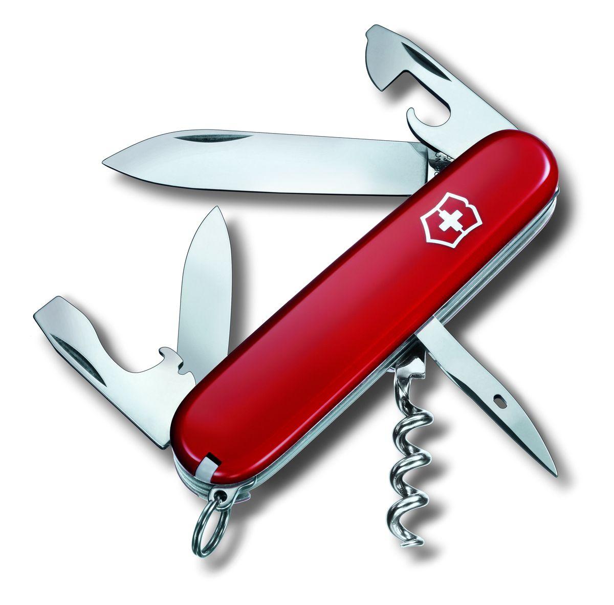 Нож перочинный Victorinox Spartan, цвет: красный, 12 функции, 9,1 см1.3603Лезвие перочинного складного ножа Victorinox Spartan изготовлено из высококачественной нержавеющей стали. Ручка, выполненная из прочного пластика, обеспечивает надежный и удобный хват.Хорошее качество, надежный долговечный материал и эргономичная рукоятка - что может быть удобнее на природе или на пикнике!Функции ножа:Большое лезвие.Малое лезвие.Штопор.Консервный нож с малой отверткой.Открывалка для бутылок с отверткой.Инструментом для снятия изоляции.Шило, кернер.Кольцо для ключей.Пинцет.Зубочистка.Длина ножа в сложенном виде: 9,1 см.Длина ножа в разложенном виде: 15,8 см.Длина большого лезвия: 7 см.Длина малого лезвия: 4,3 см.